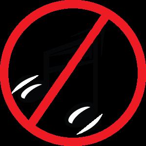 No music sign