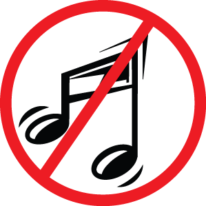 No music sign